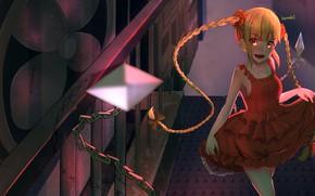 Картинка девушка, улыбка, цепь, косички, Darwin's Game, Shuka Karino
