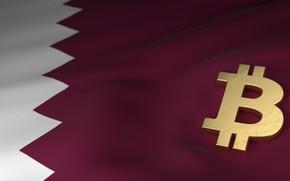 Картинка размытие, флаг, flag, qatar, bitcoin, биткоин, btc, катар