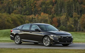 Картинка газон, Honda, Accord, седан, Hybrid, гибрид, 2018, Touring, четырёхдверный