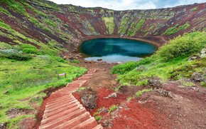 Картинка iceland, volcano, golden circle, kerid crater lake
