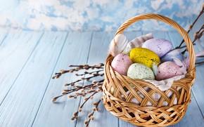 Картинка цветы, яйца, Пасха, happy, flowers, eggs, easter, cookies, decoration