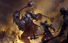 Картинка Битва, Рыцарь, Armor, Legends of Runeterra, Flail
