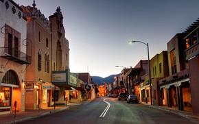 Картинка город, улица, вечер, New Mexico, Santa Fe