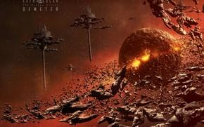 Картинка космос, планета, звёзды, Demeter, The Broken Planet