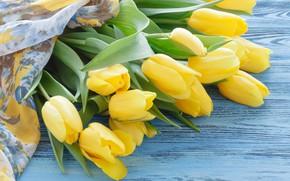 Картинка тюльпаны, букет, желтые