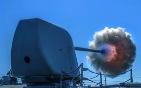 Картинка артиллерия, стрельбы, эсминец