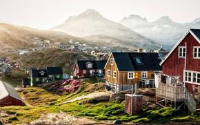 Картинка город, север, Greenland, Гринландия