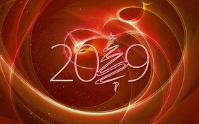 Картинка линии, Новый Год, 2019