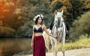 Картинка девушка, конь, Beidy Franco