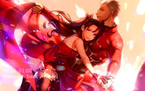 Картинка Рин, арчер, Судьба ночь схватки, Fate / Stay Night