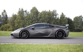 Картинка Lamborghini, суперкар, вид сбоку, Mansory, Huracan, 2016, Torofeo, 1250 л.с.