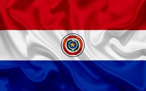 Картинка флаг, герб, фон, Парагвай, Paraguay, flag, paraguay, республика парагвай, fon, парагвай, coat of arms, republica …