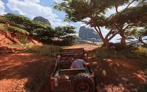 Картинка джип, Мадагаскар, Салли, Naughty Dog, Playstation 4, Uncharted 4, Сэм Дрейк, Нэйтан Дрейк