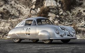 Картинка Porsche, Coupe, Race car, 1951, 356SL, Old vehicle