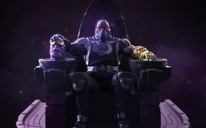 Картинка dc comics, marvel comics, infinity stone, darkseid, thanos