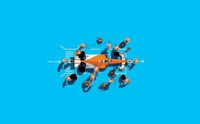 Картинка Команда, Гонка, Car, Art, Формула - 1, Formula 1, Болид, Пит-стоп, Peter Greenwood, by Peter …