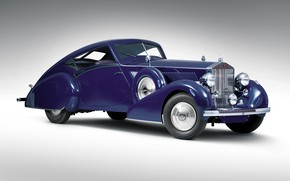 Картинка ретро, Rolls-Royce, Coupe, 1937, Phantom III Aero