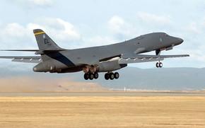 Картинка бомбардировщик, посадка, взлет, B-1B