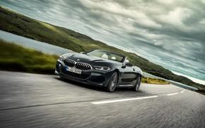 Картинка дорога, разметка, BMW, кабриолет, xDrive, G14, 8-series, 2019, 8er, M850i Convertible