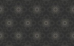 Картинка серый, фон, узор, текстура, геометрия, орнамент, background