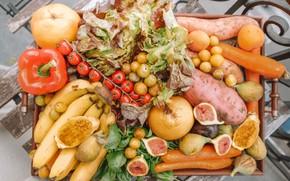 Картинка фрукты, овощи, ассорти