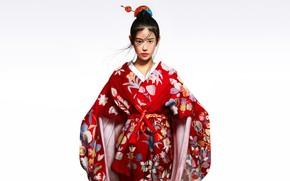 Картинка Девушка, Азиатка, Кимоно, Chinese, Asian girl, Kimono, Character, Patricia Artflow, Red kimono, by Patricia Artflow