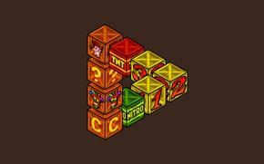 Картинка Минимализм, Коробки, Арт, Videogames, Crash Bandicoot, Game Art, Ящики, Bandicoot, by Ronnie Araya, Nextodie, Ronnie …