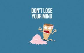 Картинка Минимализм, Юмор, Мороженное, Арт, Scream, Illustration, Characters, Humor, Ice cream, Сладость, Comic Art, by Christopher ...