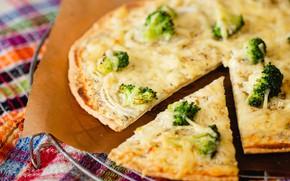 Картинка сыр, пирог, пицца, брокколи