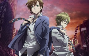 Картинка аниме, парни, Mahiro Fuwa, Zetsuen No Tempest, Yoshino Takigawa