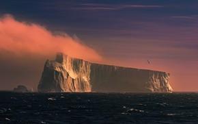 Картинка волны, айсберг, waves, iceberg, James Cai