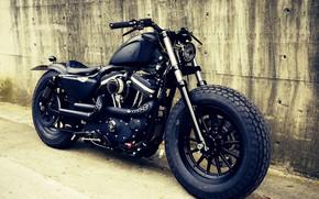 Картинка Custom, Motorcycle, Bobber