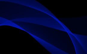 Картинка Черный, Синий, Линии, Абстракция