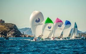 Картинка море, побережье, спорт, яхты, паруса, регата, One Ocean SAILING Champions, perfect weather for day