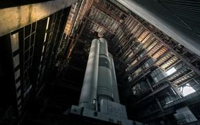 Картинка космос, Abandoned, soviet space launcher