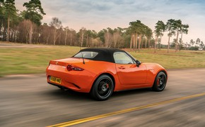 Картинка оранжевый, Mazda, родстер, MX-5, 30th Anniversary Edition, мягкий верх, 2019