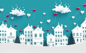 Картинка любовь, фон, сердечки, день святого валентина