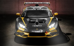 Картинка Lamborghini, Спорткар, Спереди, Вид спереди, Huracan, Super Trofeo EVO collector