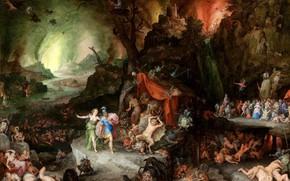 Картинка Ян Брейгель Старший, историческая живопись, Эней и Сивилла в преисподней