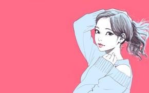 Картинка Pink, Girl, Илья Кувшинов, Aesthetic