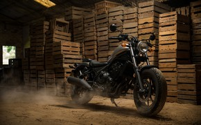 Обои мотоцикл, Хонда, Honda, 2018, круизёр, Honda Rebel 500