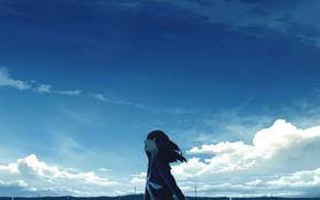 Картинка небо, школьница, плачет