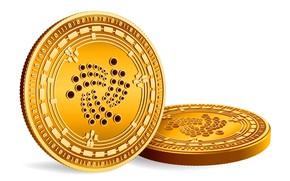 Картинка монеты, white, gold, fon, coins, cryptocurrency, iota, йота