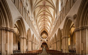 Картинка Великобритания, England, Сомерсет, Somerset, Wells Cathedral Nave, Неф собора в Уэллсе