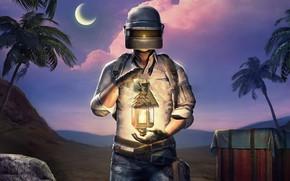 Картинка фонарь, шлем, парень, PlayerUnknown's Battlegrounds