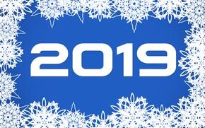 Картинка синий, фон, узоры, Новый год, 2019