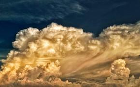 Картинка небо, облака, краски, ретушь