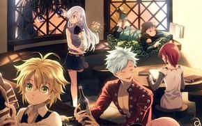 Картинка друзья, таверна, Nanatsu no Taizai, Семь смертных грехов