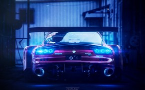 Картинка Авто, Машина, Mazda, Car, Mazda RX-7, Outlaw, Ned Souris, Transport & Vehicles, by Ned Souris, …