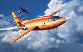 Картинка US Airforce, экспериментальный самолёт ВВС США, Bell X-1, Supersonic Aircraft